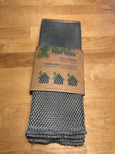 NORWEX NETTED DISH CLOTHS PACK OF 2 Graphite NEW!
