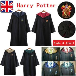 Adult Harry Potter Gryffindor Ravenclaw Slytherin Robe Costume Cloak Hogwarts UK
