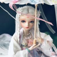 1/3 BJD Doll 60cm Mädchen Puppe + Make-up + Augen + Kleidung + Regenschirm Gift