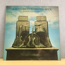 VARIOUS A Monument To British Rock  UK vinyl LP EXCELLENT CONDITION Harvest  A