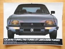 CITROEN CX range 1983 1984 French Mkt sales brochure