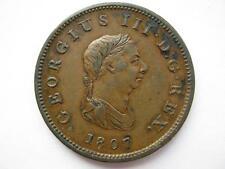 1807 George III Halfpenny, GVF.