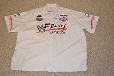 RARE WHITE AUTOGRAPHED 1999 WWF RACING JERRY TOLIVER  FUNNY CAR NHRA CREW SHIRT