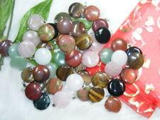Wholesale 50 pcs Coin mix gemstone pendants