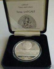 LATVIA 1 Lats LATGALE 2004 Silver 92.5%, angel, cross and Jesus