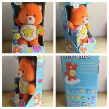 CARE BEARS COLLECTION TALKING LAUGH-A-LOT BEAR WITH VHS VIDEO CARTOON #7 IN BOX