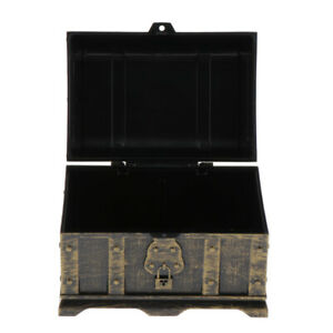 1x Pirate Treasure Chest Storage and Decorative Box for Kids Room Toys