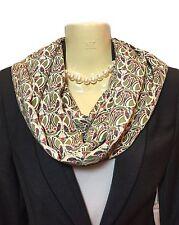 Liberty Silk Scarf Handmade Infinity Broadwick Silk Green Mauverina