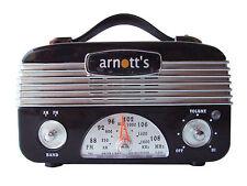1940 Retro Vintage 40's AM/FM Radio Black
