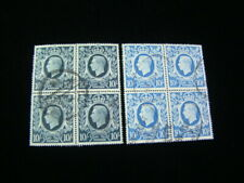 Great Britain Scott #251-251a Blocks Of 4 Used $108.00 Scv Nice!