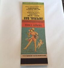 VINTAGE PIN-UP HELP WANTED MATCBOOK COVER IMPERIAL BAR