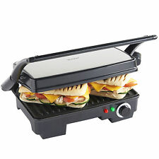 VonShef 2 Slice Panini Toasted Sandwich Toastie Maker & Health Grill 1500W