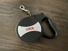 KONG Retractable Leash 16FT For Dogs Up To 110LBS Black/Silver Size LARGE