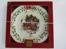 Lenox 2004 Santa'S Woodland Visit Holiday Plate - New in Box - Box not perfect