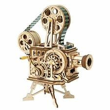 ROKR Wooden Vitascope DIY Vintage Mechanical Classic Model Movie Projector Toy
