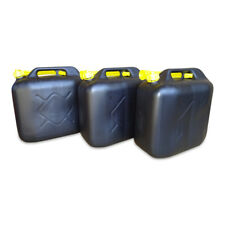 3 x 20 L Kraftstoffkanister Benzin Reserve Kanister Tank UN-Zulassung schwarz
