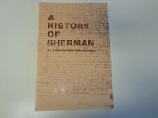 A History of Sherman Connecticut 1978 Local Allie Hungerford Giddings