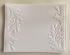 "STAMPIN' UP+(4)  ""ONLY ONE"" EMBOSSED CARD FRONT OR BACKGROUND.. CHRISTMAS."