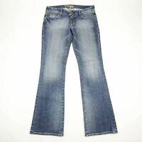 Express Women's Jeans Stella Bootcut Stretch Cotton Medium Blue Wash Low Rise