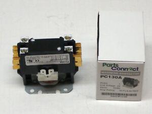PC130A Single One 1 Pole 30 Amps 24 Volts A/C Contactor