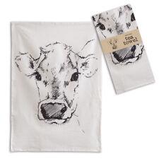 Calf Tea Towels Set of Four Cotton