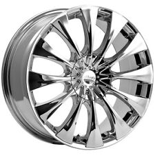 "4-Pacer 776C Silhouette 20x8.5 5x115/5x120 +40mm Chrome Wheels Rims 20"" Inch"