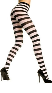 One Size Fits Most Womens Opaque Wide Striped Tights, Opaque Tights