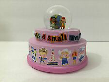DISNEY PARKS IT'S A SMALL WORLD ATTRACTION MUSICAL SNOW GLOBE NEW IN BOX