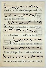 Antiphonal - COMMEM CORDIS B.M.V. ANTIPH 8 - Musical Copper Engraving - c1700