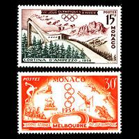 Monaco 1956 - Summer &Winter Olympic Games - Sc 363/4 MNH
