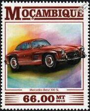 MERCEDES BENZ 300SL/ 300 SL Classic Sports Car Stamp (2015 Mozambique)