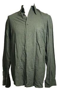 Mondo di Marco Men's Button Up Shirt, Green Color - Size M/50