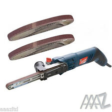 Silverline Silverstorm Power File Belt Sander With 12 Sanding Belts 13mm x 457mm