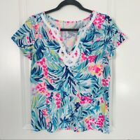 New NWT Lilly Pulitzer Women's Brewster Top Serene Blue Tippy Top Reduced XS