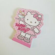 Sanrio Hello Kitty Ice Cream Server Pink Notepad - 2000 - RARE - Mint - Die Cut