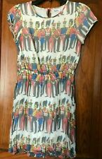 Boden Johnnie B Girls Lined Dress Soldiers Size 13-14Y Euc