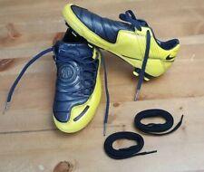 NIKE TOTAL NINETY T90 SHOOT YELLOW & BLACK FOOTBALL BOOTS SIZE UK 4