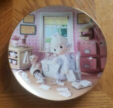 Enesco Precious Moments Collector Plate - Praise The Lord Anyhow (1994)