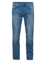 Nudie Herren Slim Fit Stretch Jeans Hose - Thin Finn Moody Blue