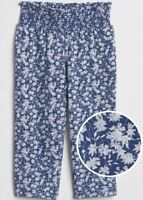 NEW WITH TAGS BABY GAP TODDLER GIRL FLORAL BLUE PANTS SIZE 4T