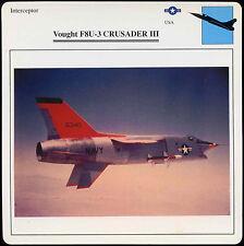 Vought F8U-3 Crusader III - Aircraft - D1 075 39.01 - Edito Card