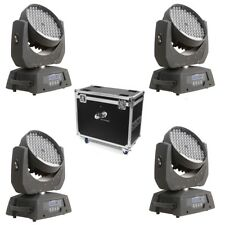 ETEC LED Moving Head ML108 Washlight Set mit Flightcase Selflock Haken TOURPACK