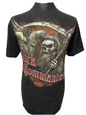 Duck Commander Dynasty Black T Shirt Tee Fear The Beard Grim Reaper M