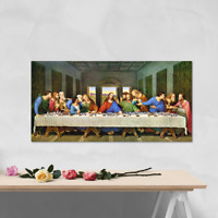 The Last Supper (Restored) by Da Vinci - Quality canvas wall art, ready to hang