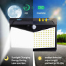 208 LED Solar Power PIR Motion Sensor Waterproof Wall Light Garden Lamp