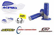 Acerbis UNIKO Vented Blanco Azul Protectores & Progrip 801 Grips HUSQVARNA FC450