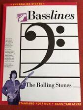 The Rolling Stones Basslines Bill Wyman's Bass Guitar Music Book Tablature Tabs