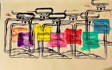 ABSTRACT CHANEL PARFUM NO 5 BOTTLES MR CLEVER ART banksy mr brainwash warhol Pop