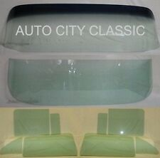 1955 1956 CHEVROLET 4 DOOR SEDAN WINDSHIEL VENT DOOR QUARTER & BACK GLASS GREEN