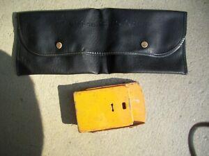 Datsun Nissan OEM original 1 Wheel Chock and Tool bag toolbag used